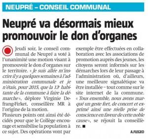 26 octobre 2015 - La Meuse